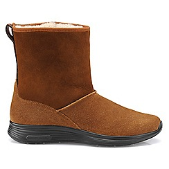 Hotter - Dark tan 'Snow' snow boots