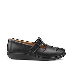 Hotter - Black 'Sunset' wide fit t-bar shoes