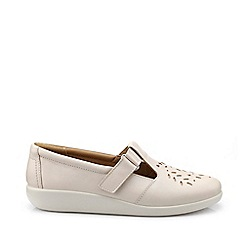 Hotter - Beige 'Sunset' Wide Fit T-Bar Shoes