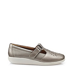 Hotter - Metallic 'Sunset' wide fit t-bar shoes