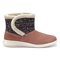 Hotter - Light pink 'Snug' slipper boots