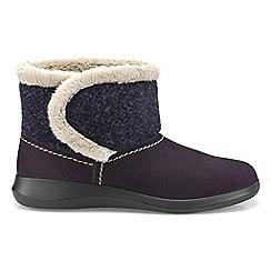 Hotter - Plum 'Snug' slipper boots