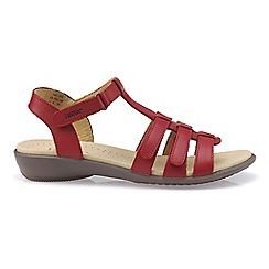 Hotter - Bright red 'Sol' wide fit gladiator sandals