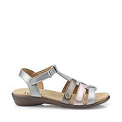 4bdcdecf31c Hotter - Dark grey  Sol  gladiator wide fit sandals