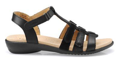 Hotter - Near black 'Sol' gladiator sandals