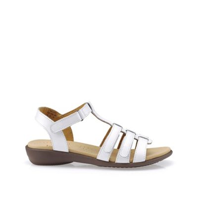 15b3b13e4c7 Hotter White leather  Sol  T-bar sandals