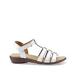 Hotter - White leather 'Sol' T-bar sandals