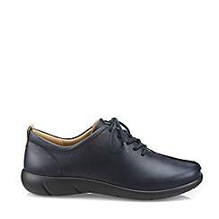 Hotter - Navy 'Soothe' Wide Fit Lace-Up Shoes