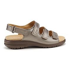 Hotter - Metallic 'Sophia' wide fit  gladiator sandals