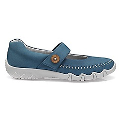 Hotter - Blue 'Spin' wide fit mary jane shoes