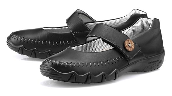 Janes Hotter Mary fit Black 'Spin' wide v4AqXr4