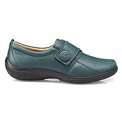 Hotter - Dark green 'Sugar' wide fit touch close shoes