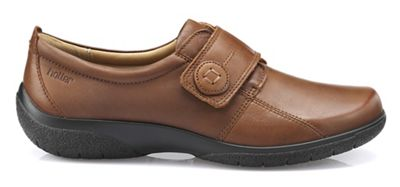 Hotter - Dark tan 'Sugar' touch close shoes