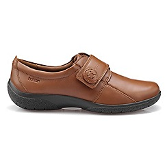 Hotter - Tan 'Sugar' extra wide fit touch close shoes