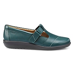 Hotter - Dark green 'Sunset' wide fit T-bar shoes