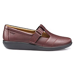 Hotter - Maroon 'Sunset' wide fit T-bar shoes