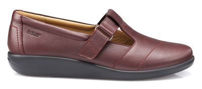 Hotter - Maroon 'Sunset' T-bar shoes