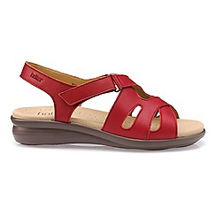 Hotter Bright Red Susa P Toe Sandals