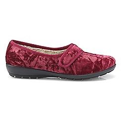 Hotter - Dark red 'Thyme' ballerina slippers