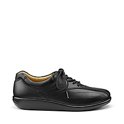 Hotter - Black 'Tone' Wide Fit Lace-Up Shoes