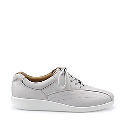 Hotter - White 'Tone' Wide Fit Lace-Up Shoes