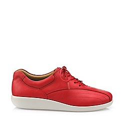 Hotter - Dark Red 'Tone' Lace-Up Shoes