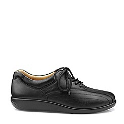 Hotter - Black 'Tone' Extra Wide Fit Lace-Up Shoes