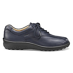 Hotter - Navy 'Tone' wide fit lace-up shoes