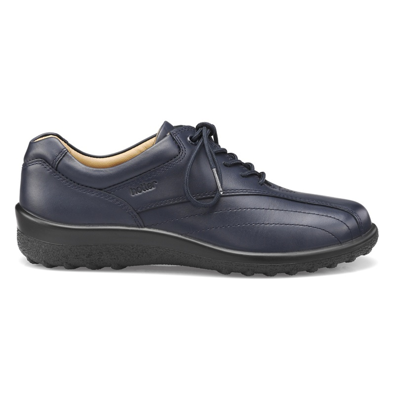 Hotter - Navy Tone Wide Fit Lace-Up Shoes