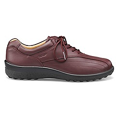 Hotter - Maroon 'Tone' wide fit lace-up shoes