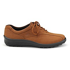 Hotter - Tan 'Tone' wide fit lace-up shoes