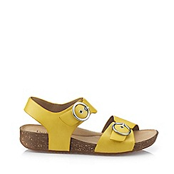 Hotter - Bright Yellow 'Tourist' Slingback Sandals