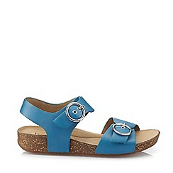 Hotter - Dark Blue 'Tourist' Slingback Sandals