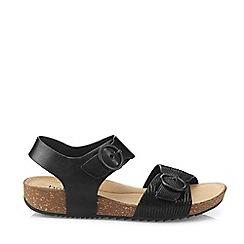 Hotter - Black 'Tourist' Slingback Sandals