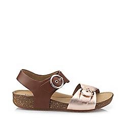 Hotter - Dark Tan 'Tourist' Slingback Sandals