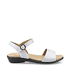 Hotter - White 'Tropic' wide fit peep toe sandals