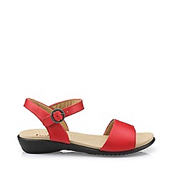 Hotter - Dark orange 'Tropic' peep toe sandals