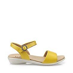 Hotter - Bright yellow 'Tropic' peep toe sandals