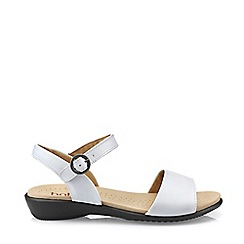 Hotter - White 'Tropic' Peep Toe Sandals