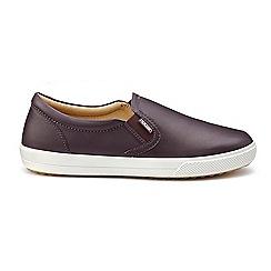 Hotter - Plum leather 'Violet' pumps