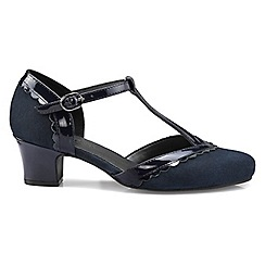 Hotter - Navy 'Viviene' wide fit mid heel T-bar shoes