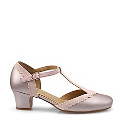 Hotter - Lilac 'Viviene' Wide Fit T-Bar Mid Heel Shoes