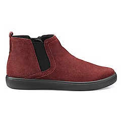 Hotter - Maroon 'Wander' ankle boots