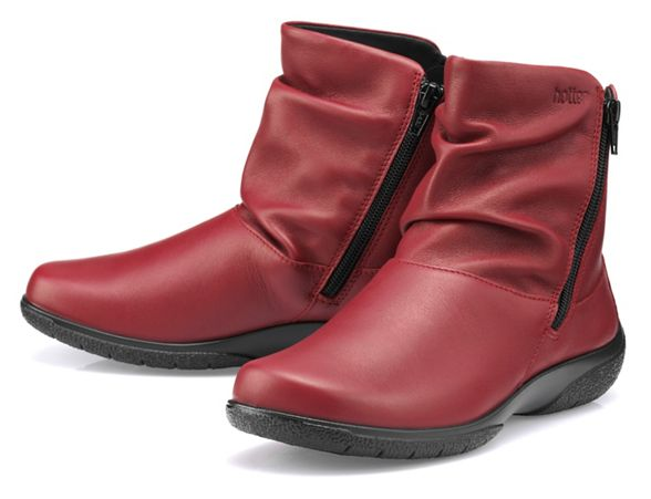 Hotter red boots ankle 'Whisper' Dark 55Xxq1w4r