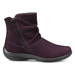 Hotter - Plum 'Whisper' ankle boots