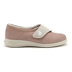 Hotter - Pale pink 'Wrap' touch close slippers