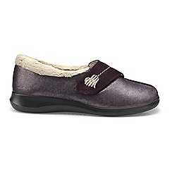 Hotter - Plum 'Wrap' slippers