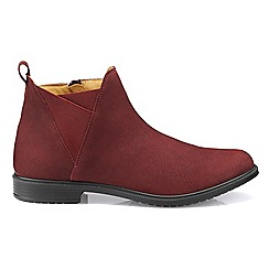 Hotter - Maroon 'York' wide fit chelsea boots