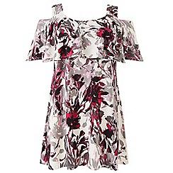 Grace - Pink cold shoulder tunic top