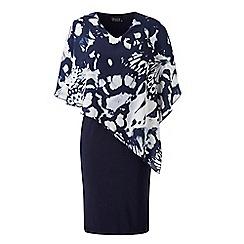 Grace - Navy chiffon midi dress
